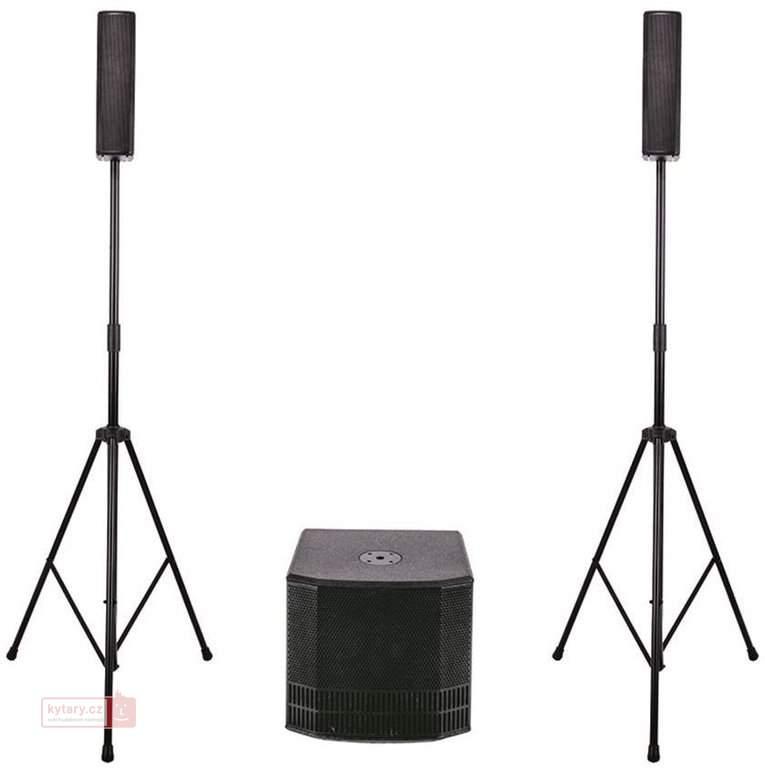 DB Technologies ES – přenosný ozvučovací systém, 2x sloupový satelit,1x subwoofer