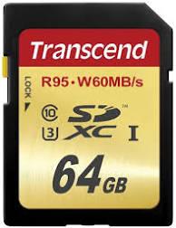 Transcend SDXC 64GB R95 W60MB/s 2ks